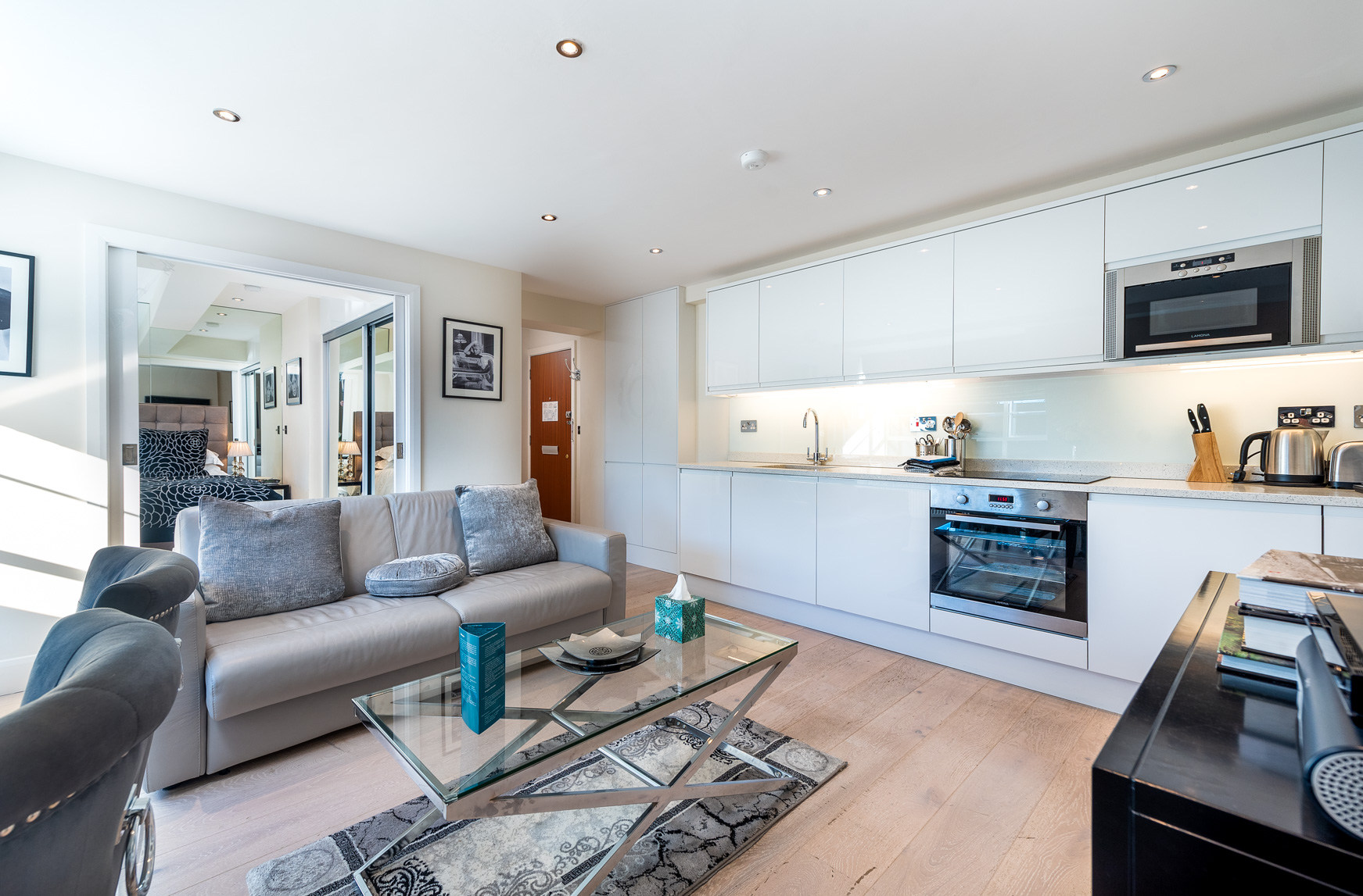 Kitchen at Nell Gwynn House Accommodation, Chelsea, London