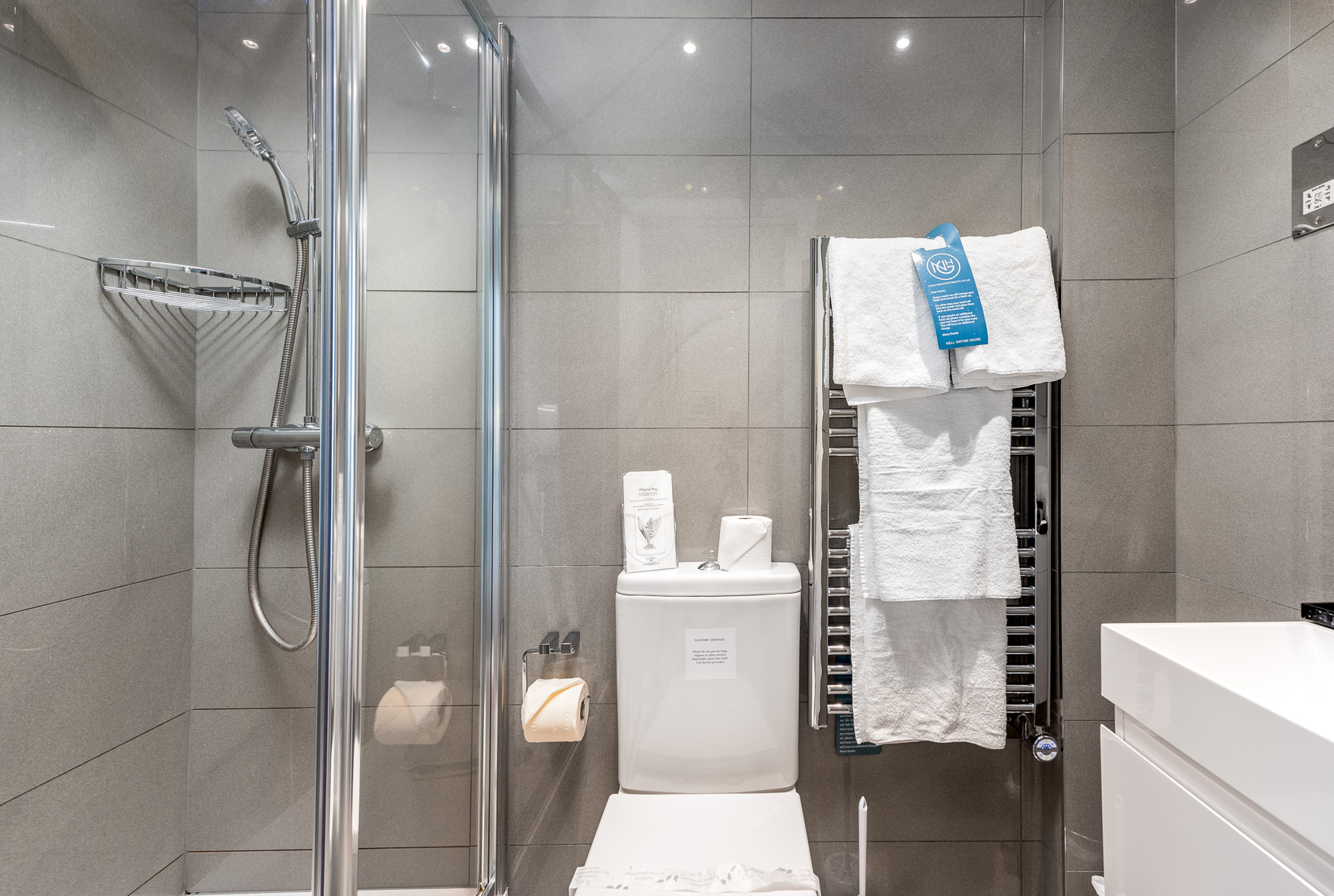Shower at Nell Gwynn House Accommodation, Chelsea, London