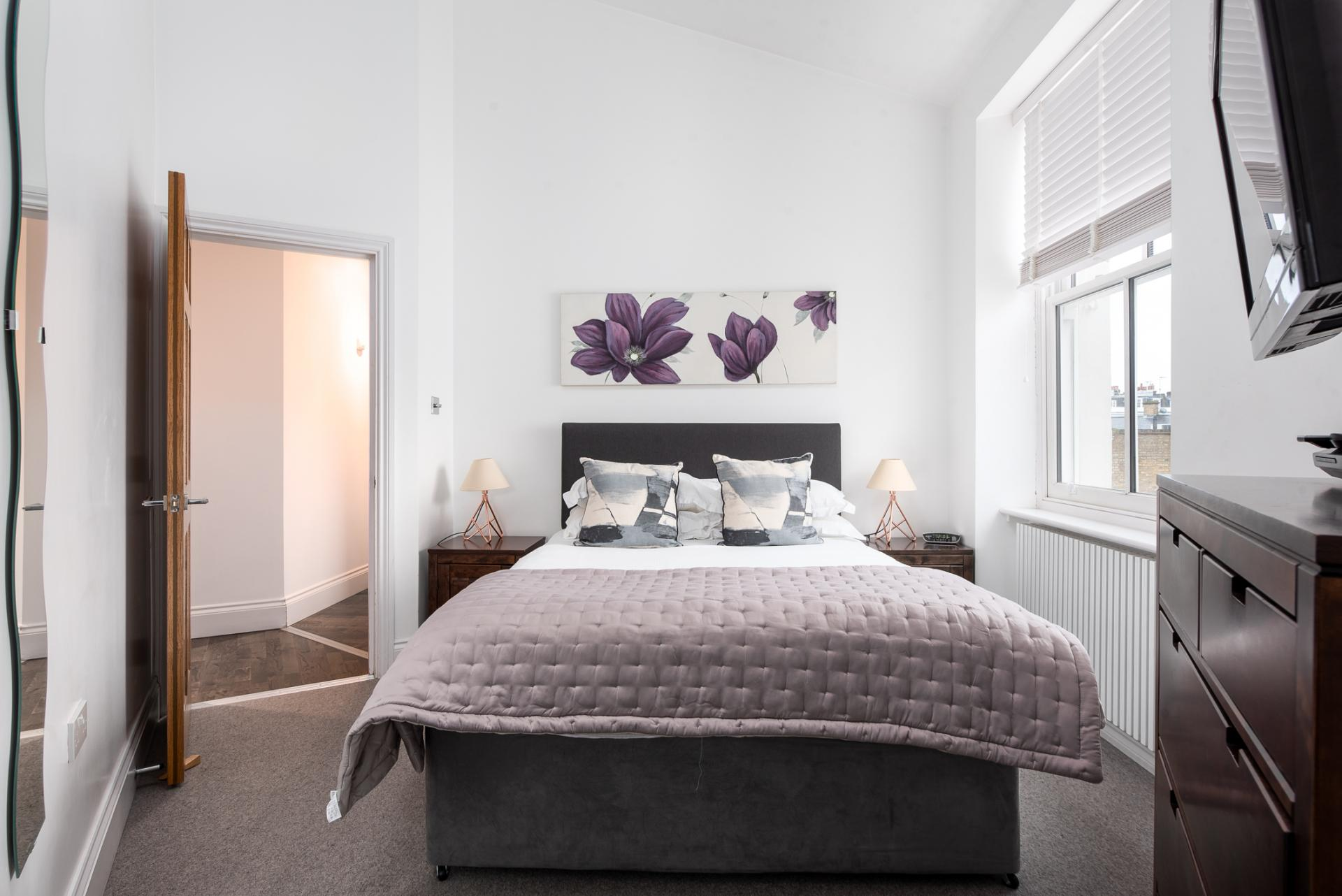 Bedroom at Chelsea Green Apartments, Chelsea, London