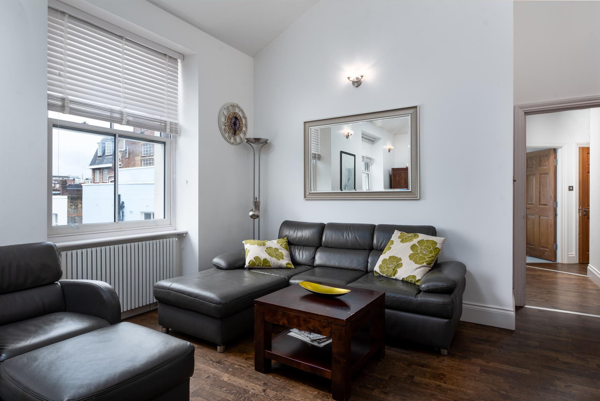 Sofa at Chelsea Green Apartments, Chelsea, London