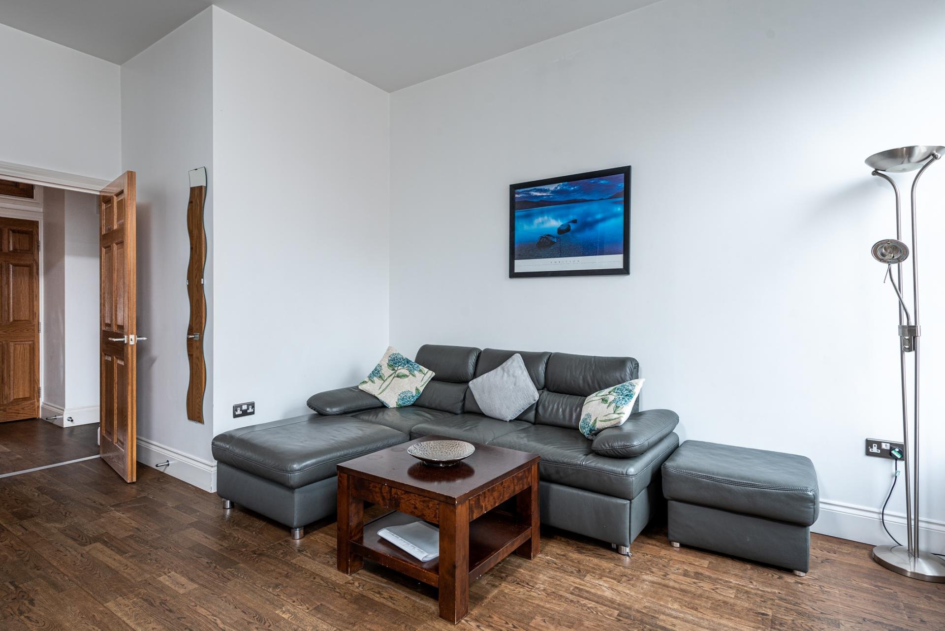 Living area at Chelsea Green Apartments, Chelsea, London