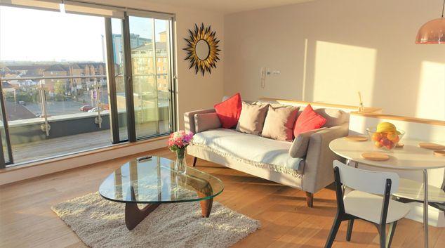 Living room at Feltham Apartments, Feltham, London