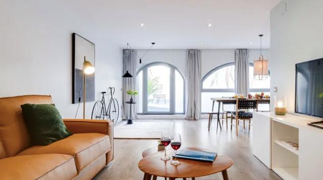 Living area at Verdi Apartments, Gracia, Barcelona