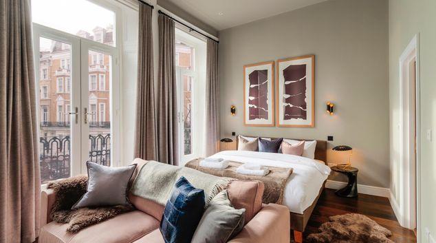 Living area at The Knaresborough Apartments, Earls Court, London