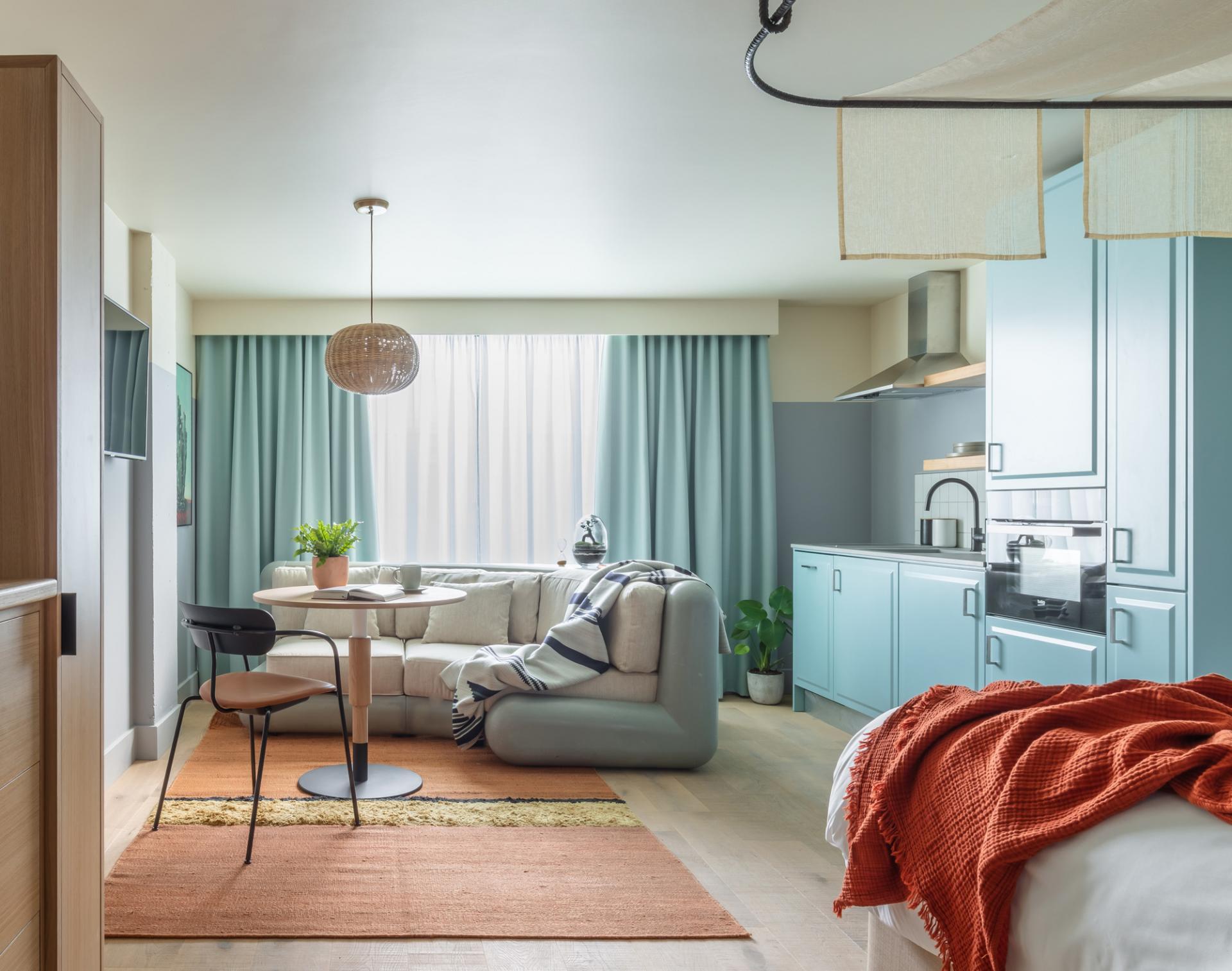 Living area at Bermonds Locke, St Saviours Estate, London