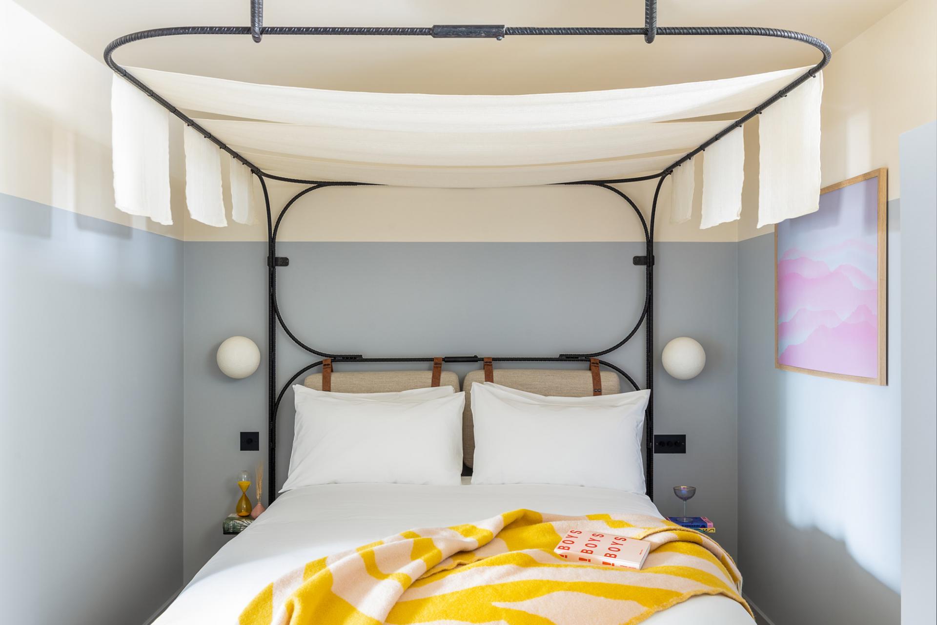 Modern bed at Bermonds Locke, St Saviours Estate, London