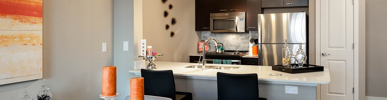 Kitchen at Marq 211 Apartments, Belltown, Seattle