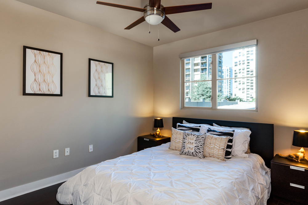 Bedroom at Marq 211 Apartments, Belltown, Seattle