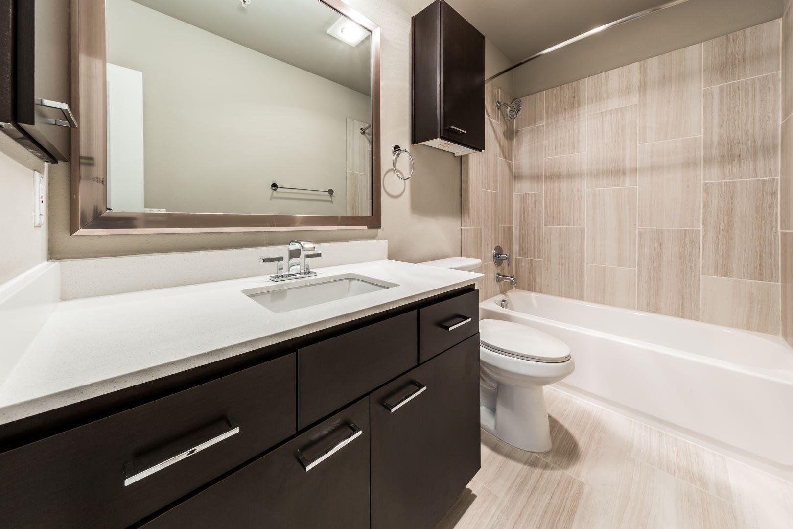 Bathroom at Marq 211 Apartments, Belltown, Seattle