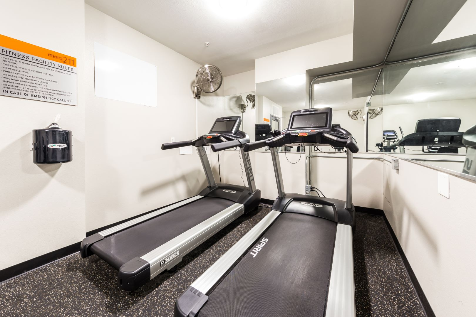 Fitness center at Marq 211 Apartments, Belltown, Seattle