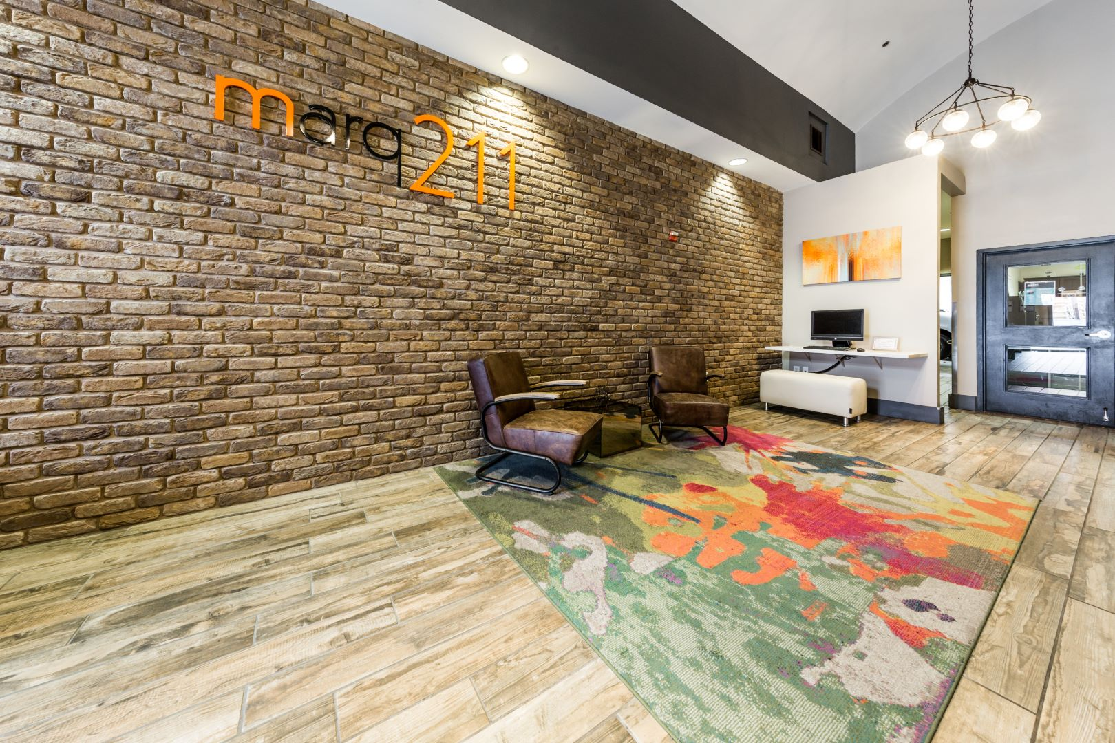 Lobby at Marq 211 Apartments, Belltown, Seattle