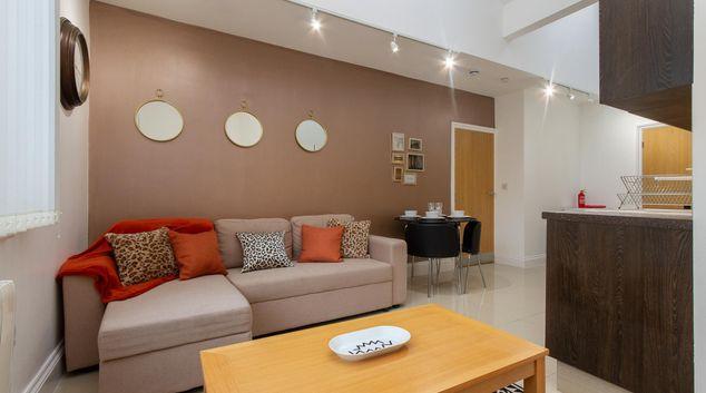 Living room at Vogue Duckworth Apartments, St Annes, Lytham St Annes