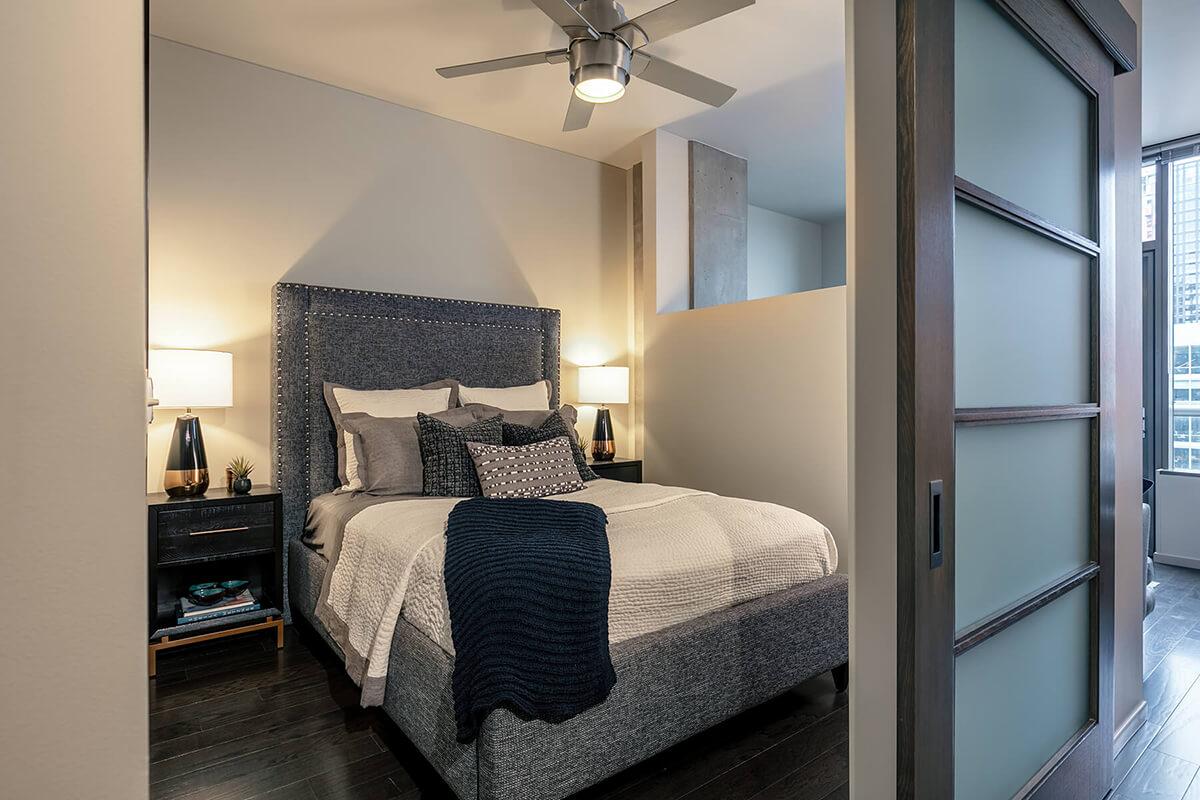 Bedroom at Via6 Apartment, Belltown, Seattle