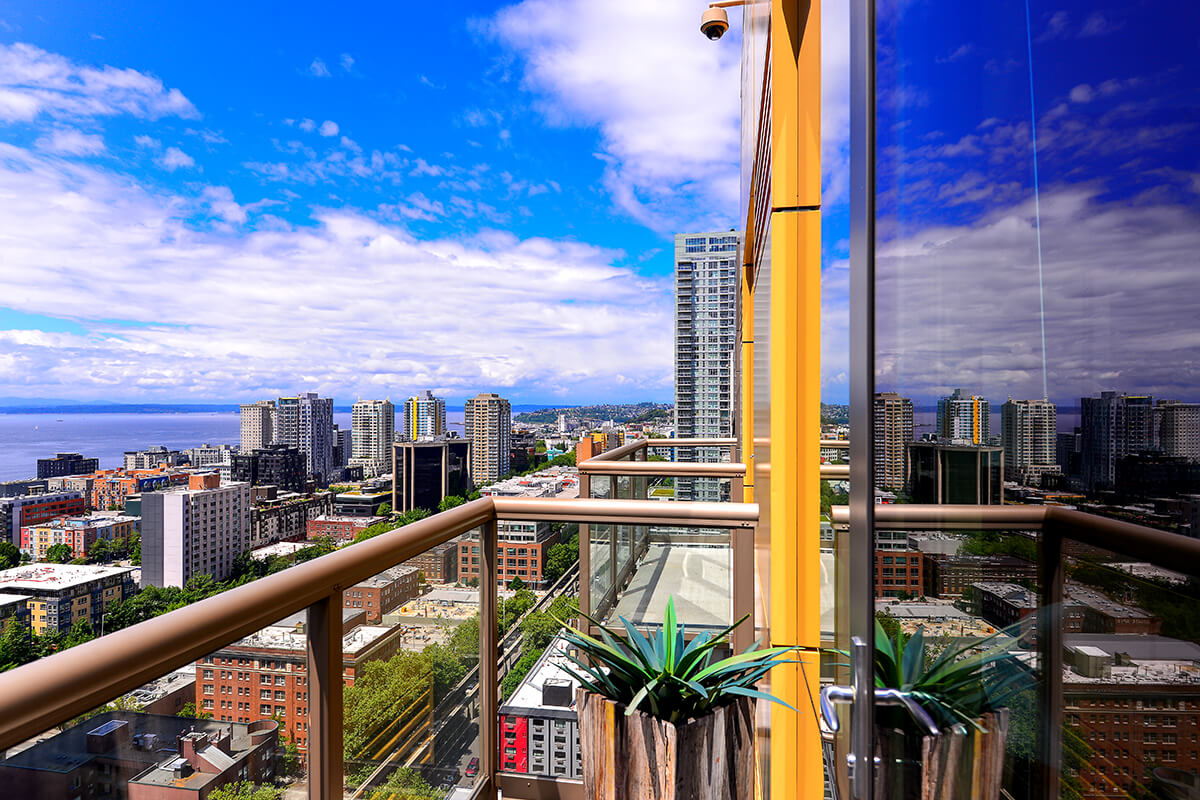 Balcony at Via6 Apartment, Belltown, Seattle