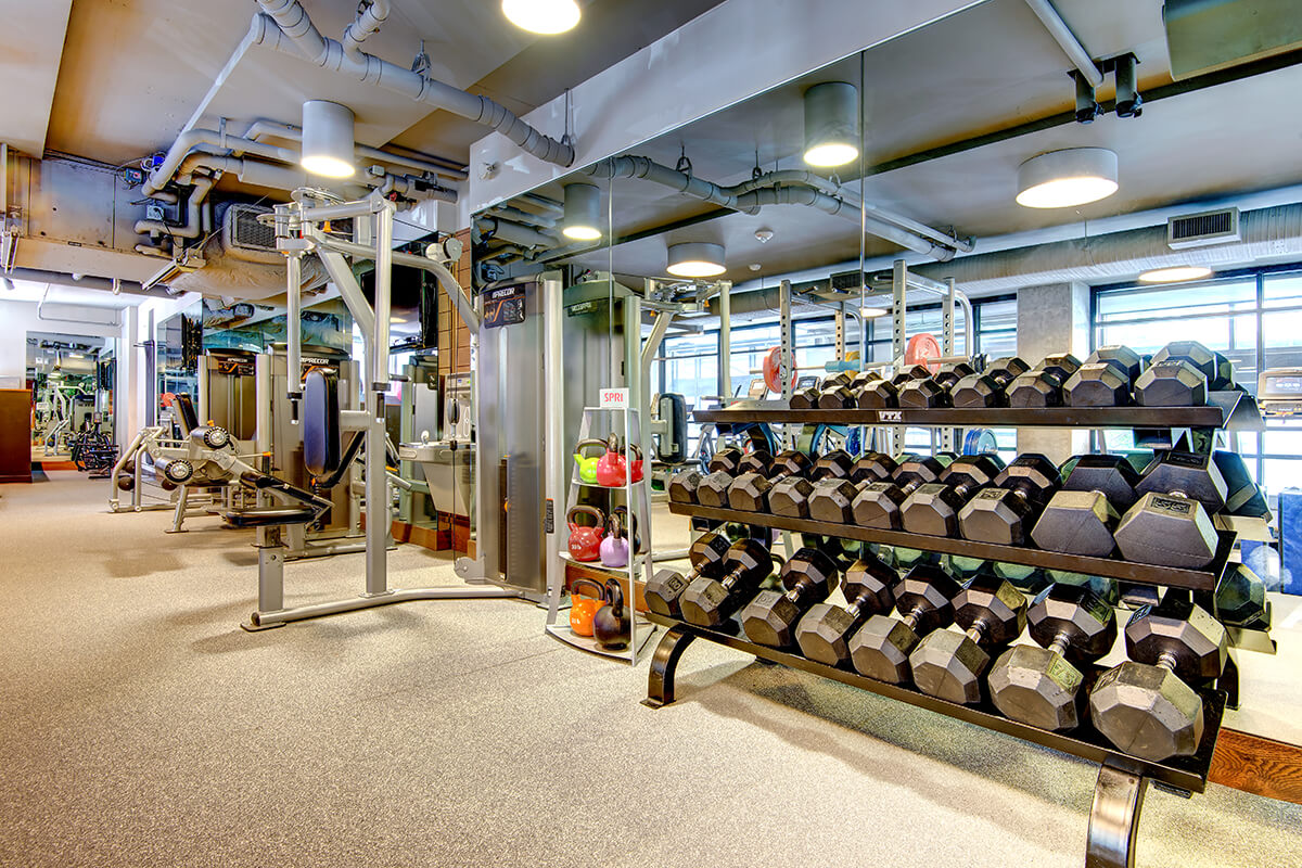 Gym at Via6 Apartment, Belltown, Seattle