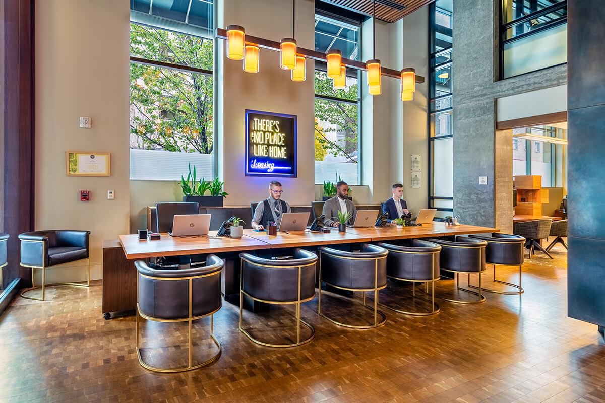 Lobby at Via6 Apartment, Belltown, Seattle