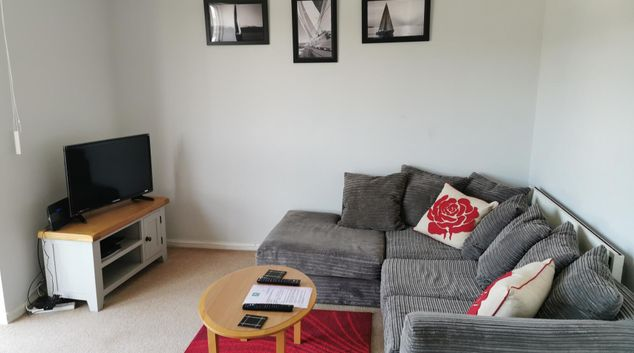 Living area at Baystays Scenic View Apartments, Maritime Quarter, Swansea
