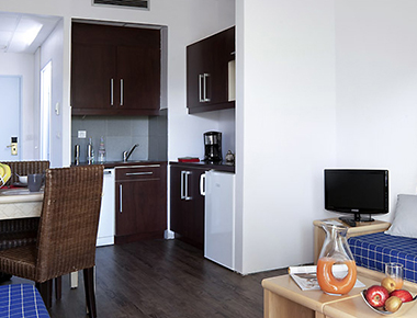 Striking kitchen in Adagio Marseille Prado Plage