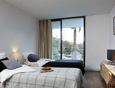Premium bedroom in Adagio Marseille Prado Plage