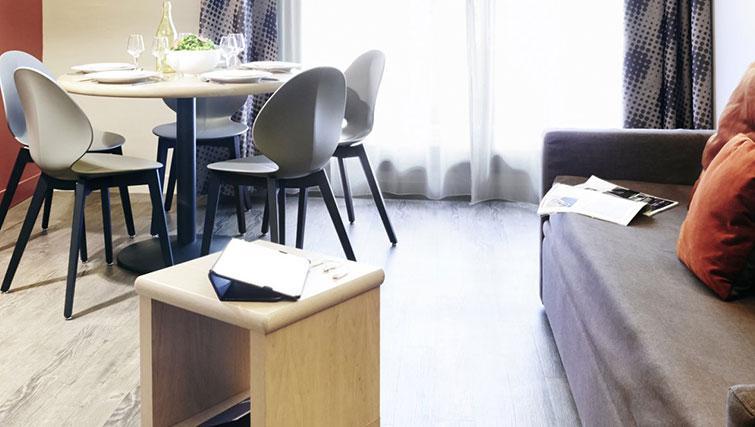 Living/dining area at Adagio Marseille Prado Plage