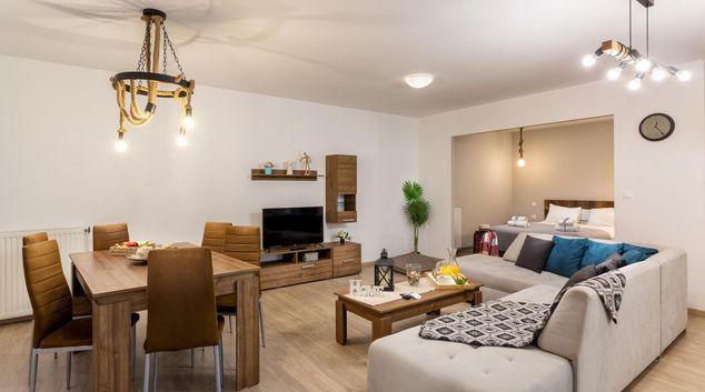 Living area at Athens Supreme Apartments, Gouva, Athens