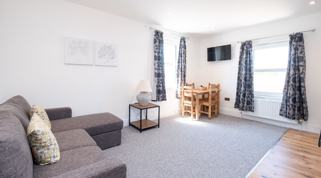 Living room at Rowan Apartments, Pettistree, Woodbridge