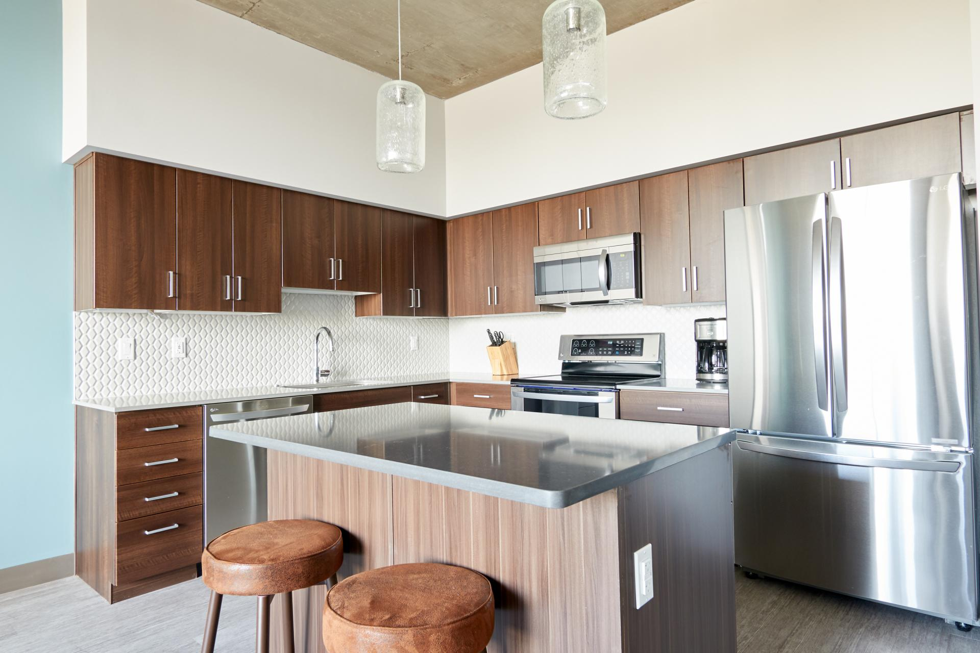 Kitchen at McKinley Apartments, Center, Phoenix