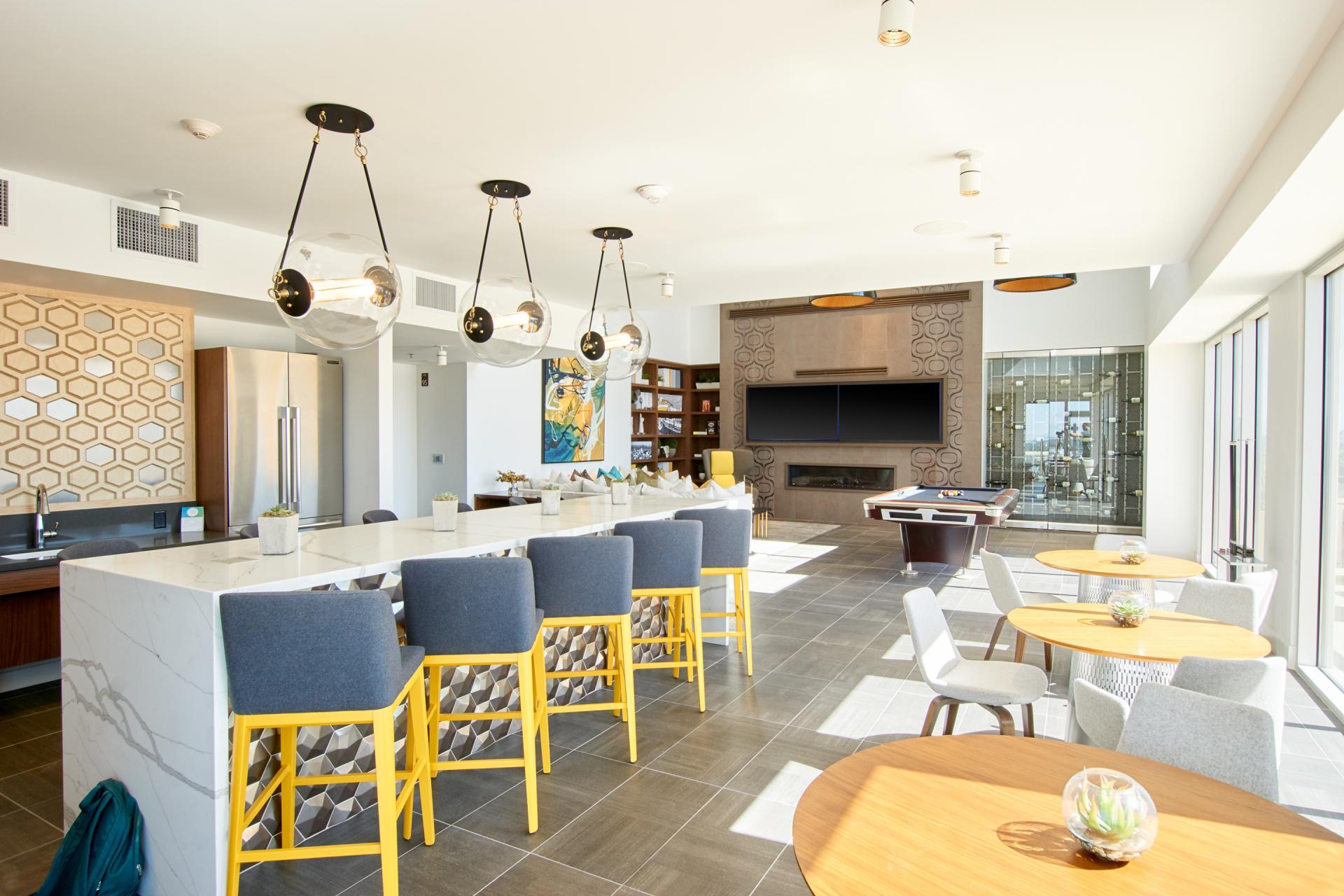 Communal space at McKinley Apartments, Center, Phoenix