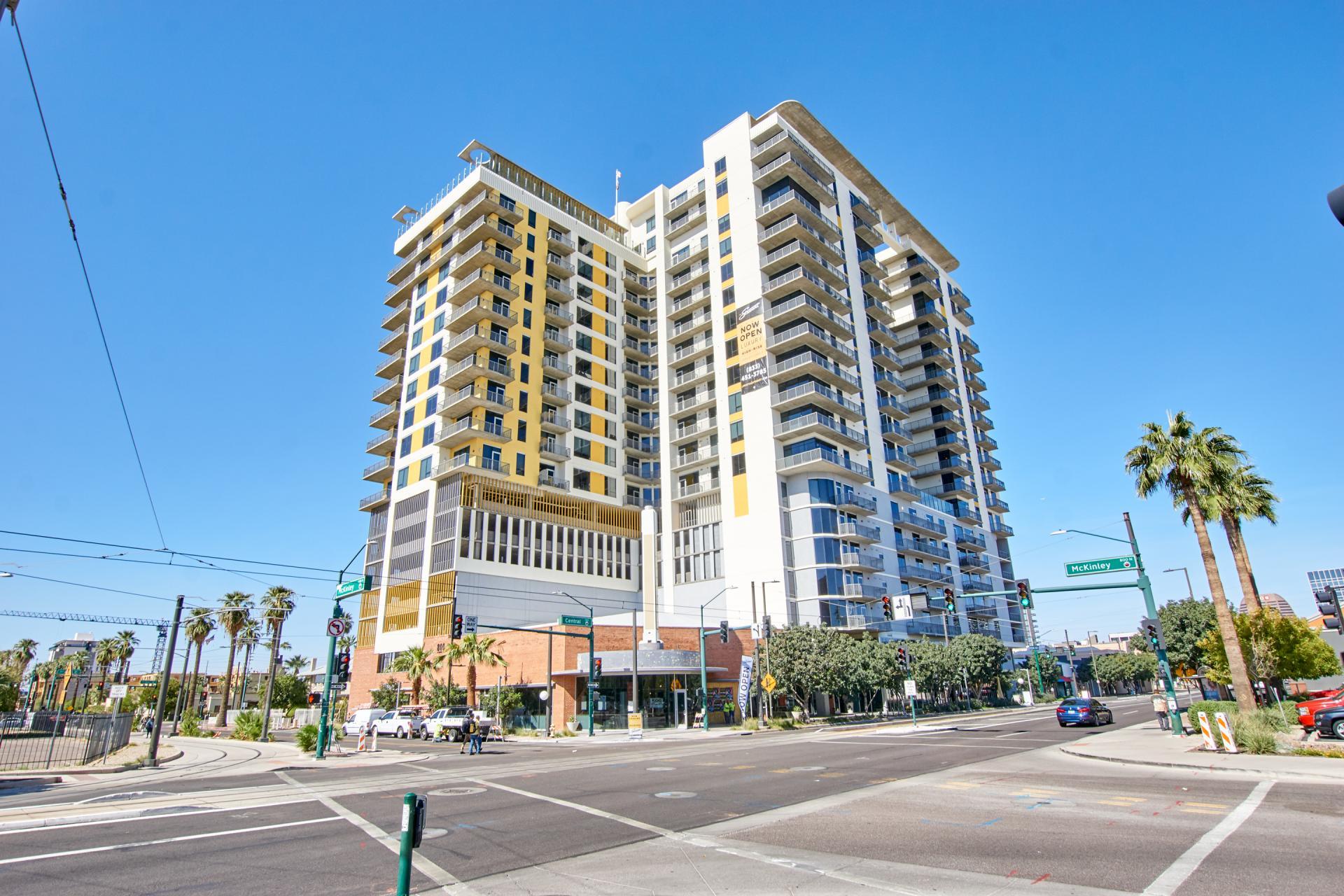 Exterior of McKinley Apartments, Center, Phoenix
