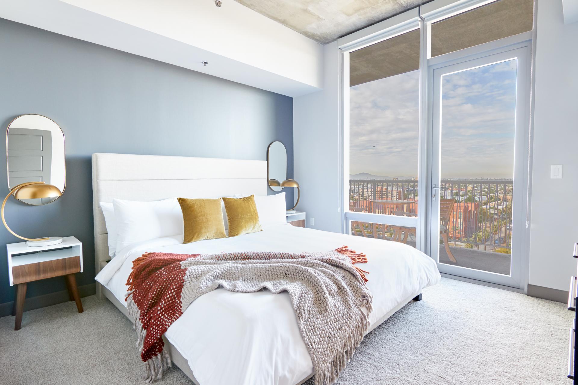 Bedroom at McKinley Apartments, Center, Phoenix