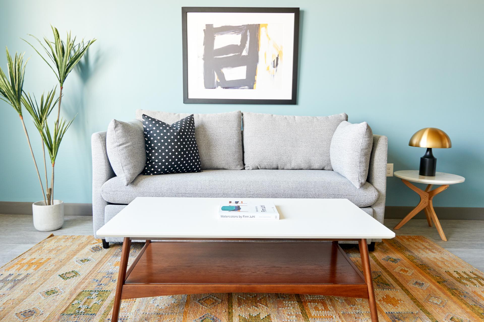 Sofa at McKinley Apartments, Center, Phoenix
