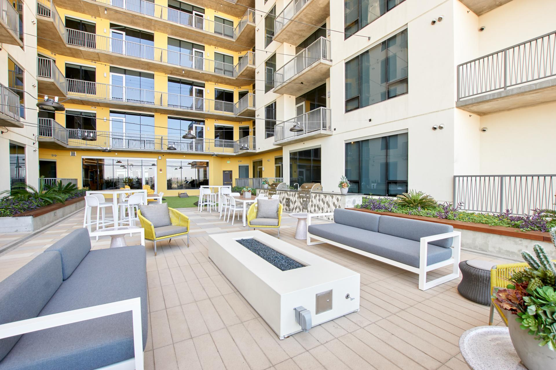 Seating at McKinley Apartments, Center, Phoenix