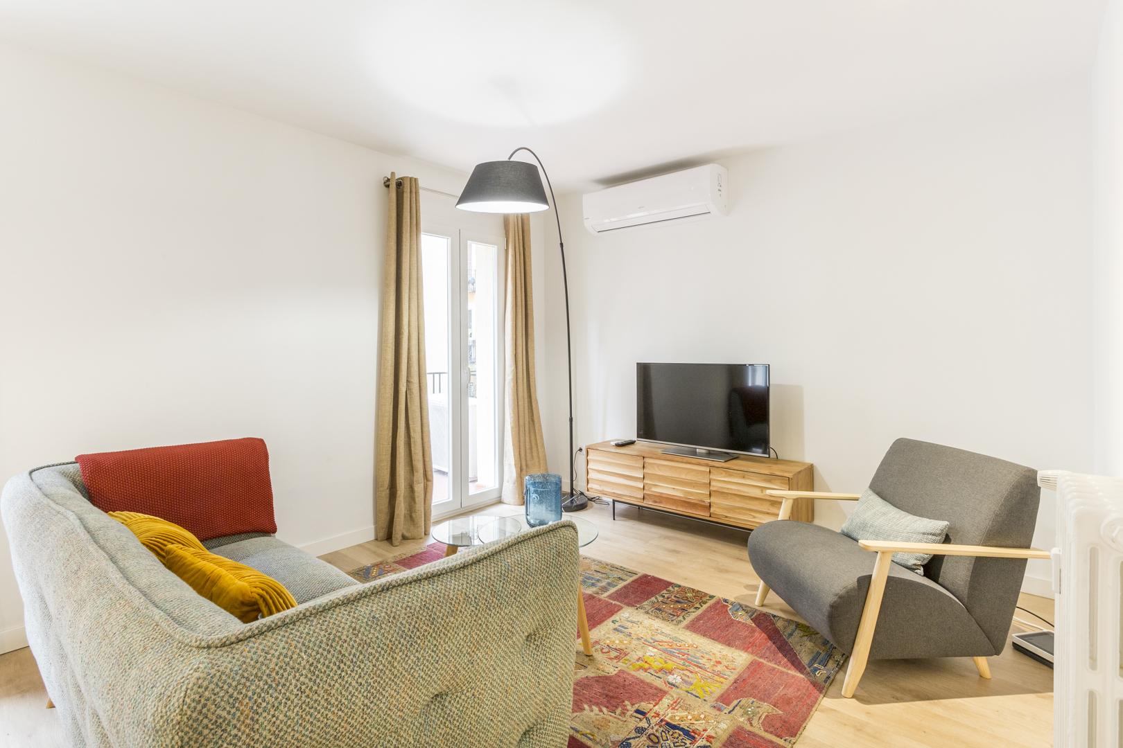 Living area at Calle Gravina Apartment, Centre, Madrid