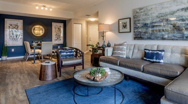 Living area at Gables Montecito, Gables Montecito, Palm Beach Gardens