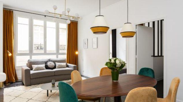 Living area at Ponthieu Apartments, 8th Arr, Paris