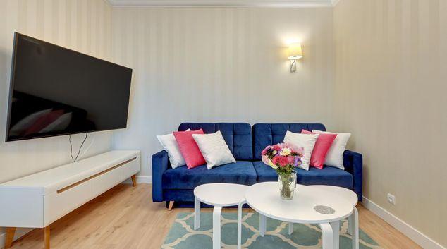 Living area at Rajska Apartments, Srodmiescie, Gdansk
