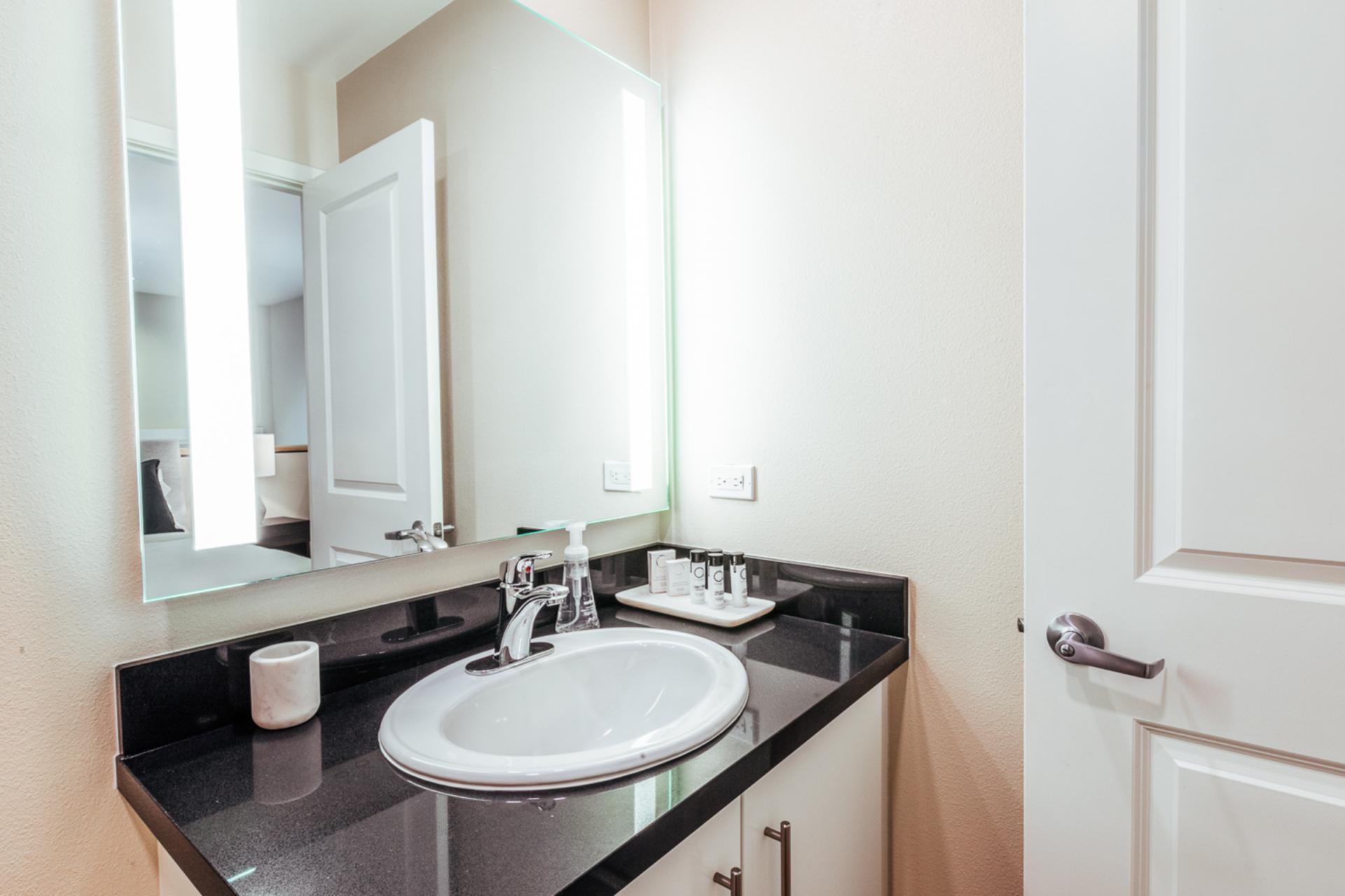 Bathroom at Landing Furnished Apartments at MB360, Mission Bay, San Francisco