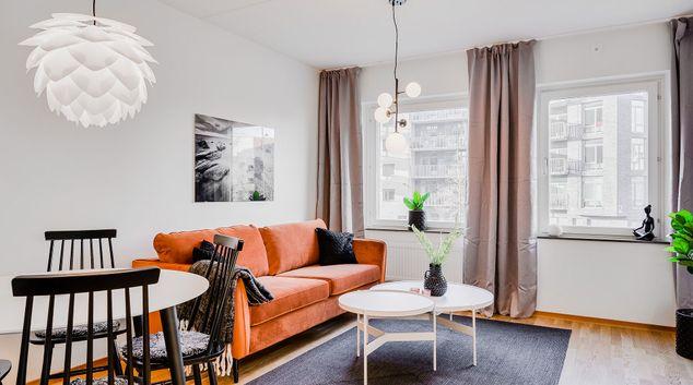 Living area at Hyllie Allé Apartments, Hyllie, Malmö