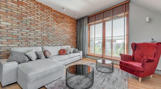 Living area at Nowa Motława Apartments, Srodmiescie, Gdansk