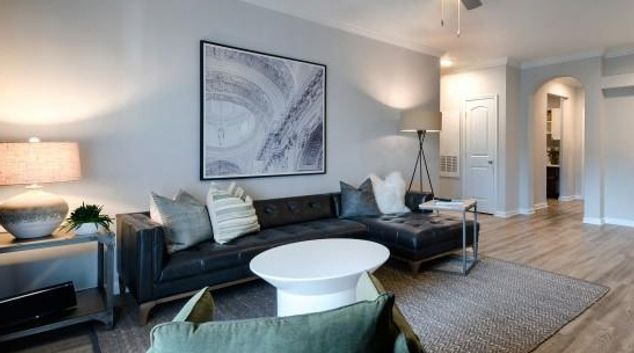 Living area at Station on Silver Apartments, Herndon, Washington DC