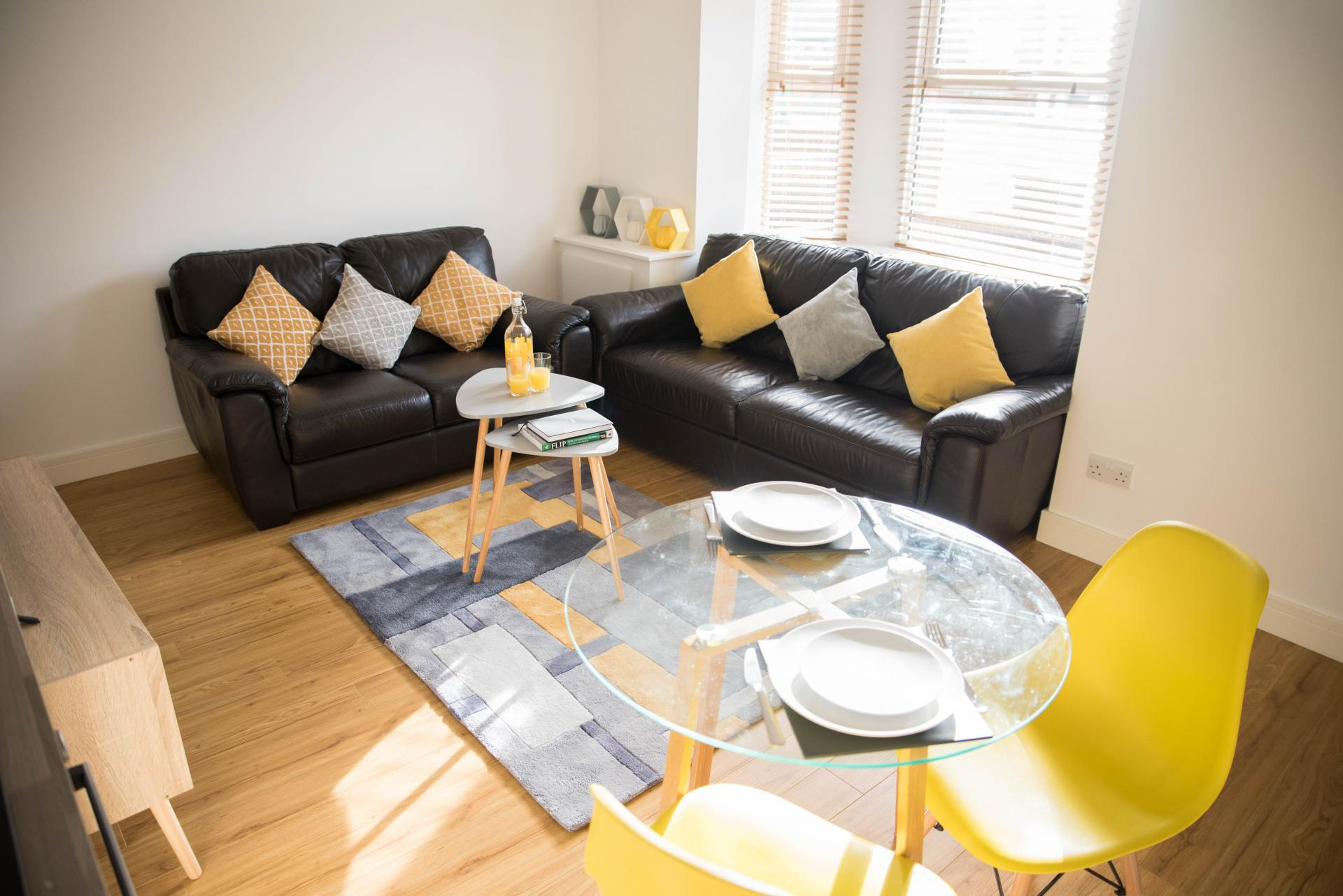Living area at New Road Cobiere House Apartment, Centre, Basingstoke