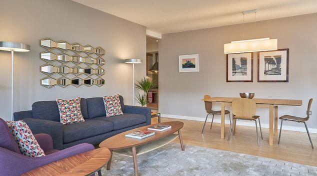 Living area at Hanover Riverside, East Wall, Dublin