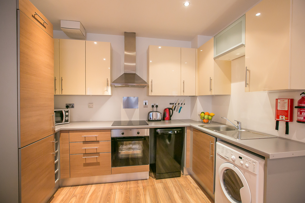 Kitchen at Hanover Waterfront Apartment, Stella Gardens, Dublin