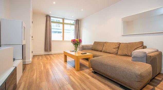 Living area at Hanover Waterfront Apartment, Stella Gardens, Dublin