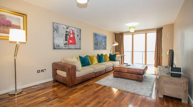 Living area at Hanover Wharf, Stella Gardens, Dublin