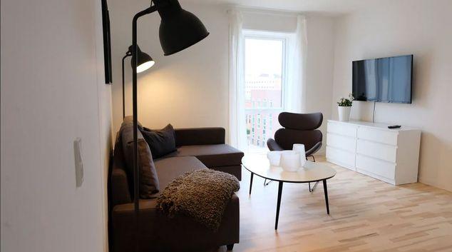 Living area at Karin Nellemoses Apartments, Valby, Copenhagen