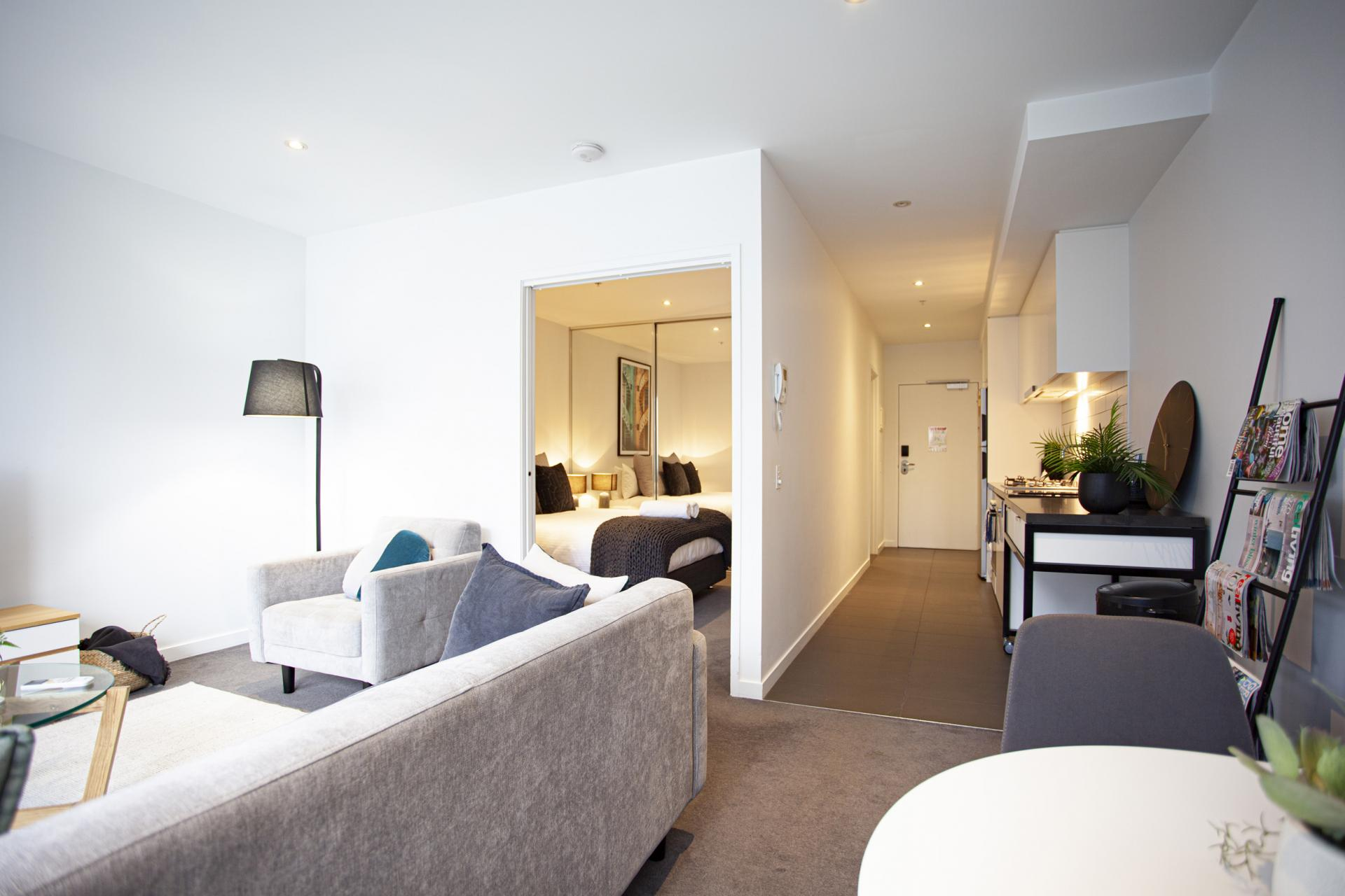 Open living at The Bella Apartments, South Melbourne, Melbourne