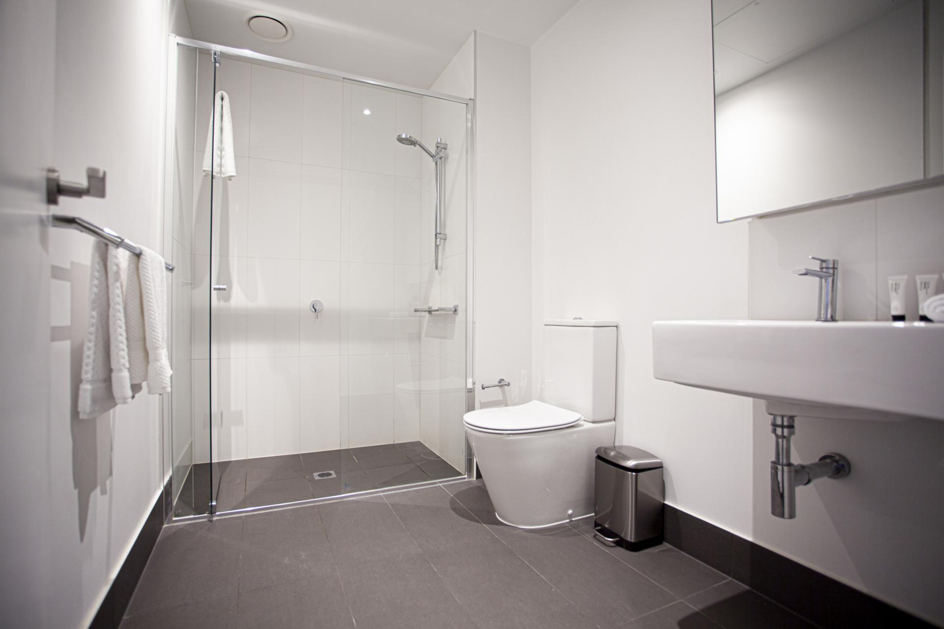 Shower at he Bella Apartments, South Melbourne, Melbourne