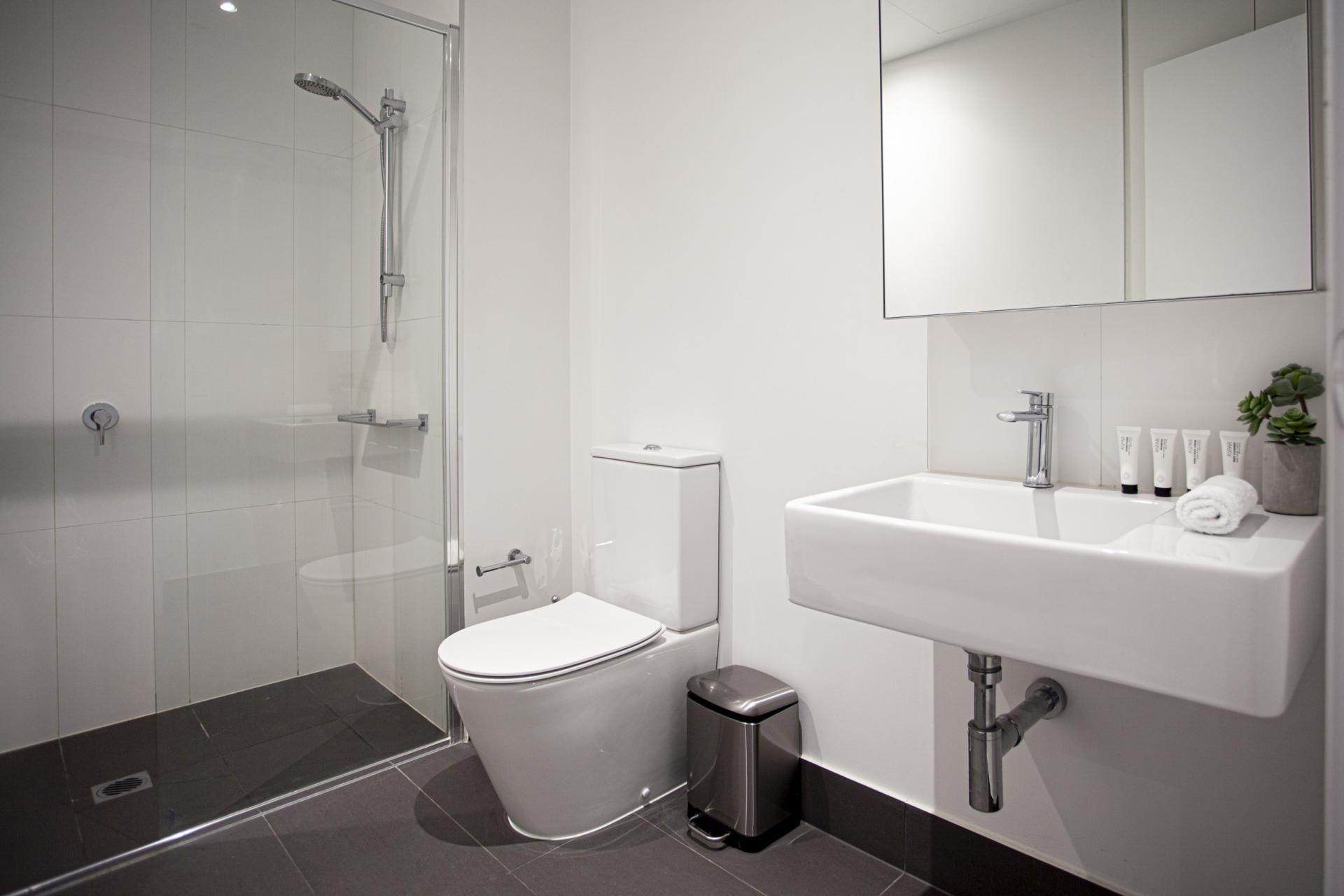 Bathroom at BedThe Bella Apartments, South Melbourne, Melbourne