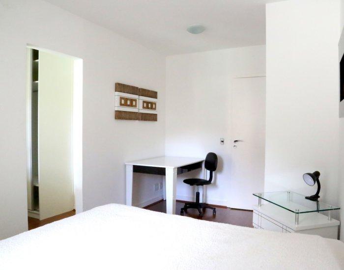 Desk at Paraiso Barra Apartment, Joa, Rio de Janeiro